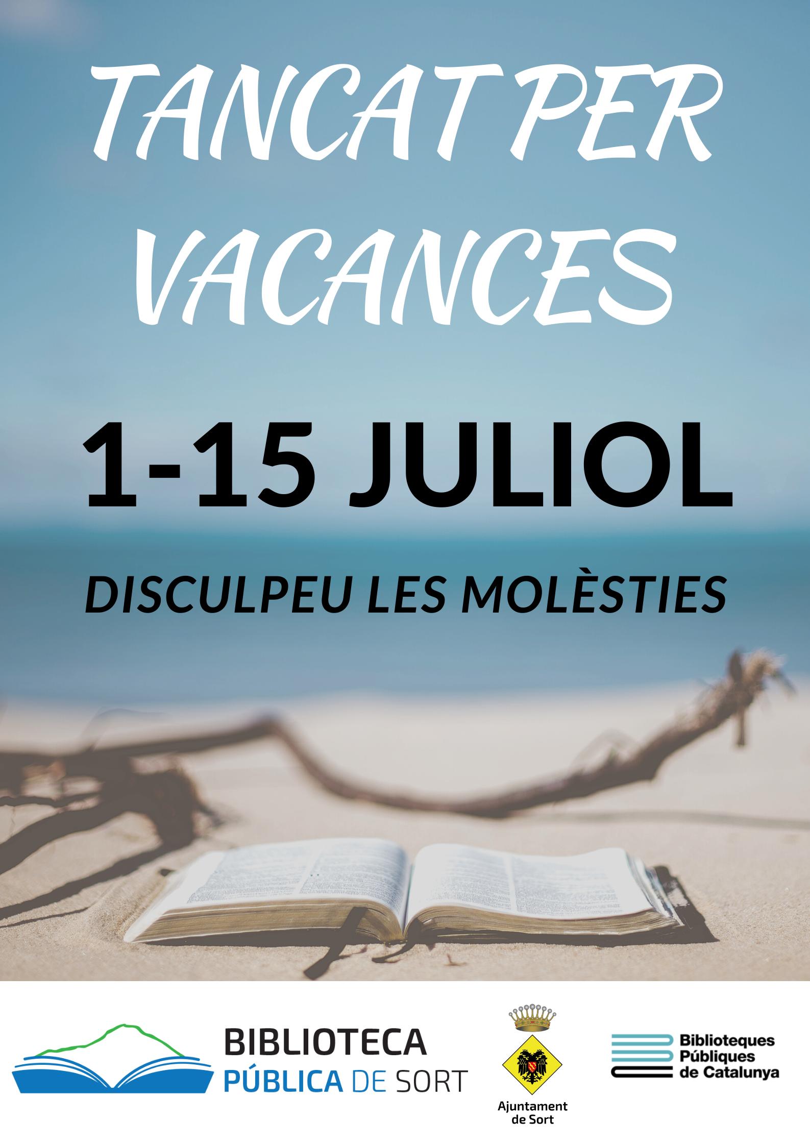 cartell vacances juliol biblioteca